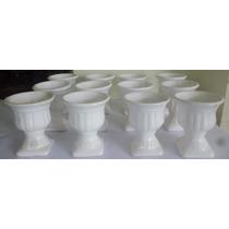 *1010* Kit Com 10 Vasinhos Porcelana Branca Para Festas