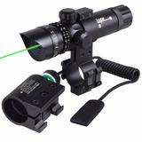 Mira Laser Verde Rifles Aire Comprimido Pistola 2 Monturas