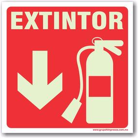 Señal Protección Civil Extintor Letrero 20 X 20 Cm