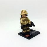 Soldado Militar Boneco Lego Compatível Usa Ultimas Unidades