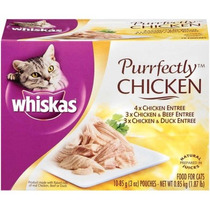 Whiskas Purrfectly Pollo Paquete De La Variedad Wet Cat Food