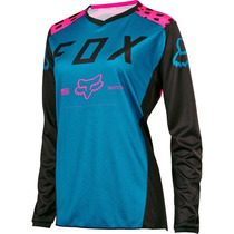 Jersey Fox Switch Mujer Rosa Talla S Motocross Mtb Downhill