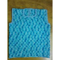Chaleco Tejido Al Crochet De Invierno Para Nene De 1 Año