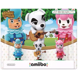 Kit Amiibo Animal Crossing Com 3 Peças Cyrus K.k E Reese