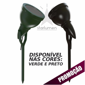 Kit 11 Espeto Jardim Alumínio Luminária Preto E27 Par 20