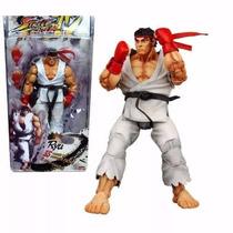 Boneco Street Fighter Ryu 18 Cm Articulável 35 Movimentos