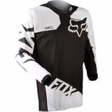 Camisa Fox 180 Race Preta Tamanho Grande (g) Mx Cross Trilha