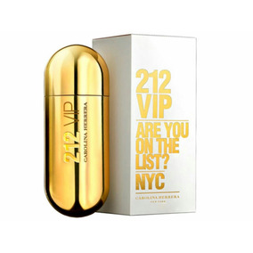 Perfume 212 Vip 80ml Feminino. Carolina Herrera.