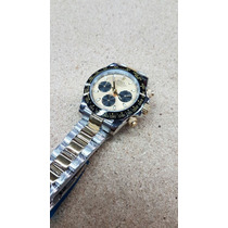 Rolex 105rx Daytona Oro Acero Cara Oro Ceramica Cronometro