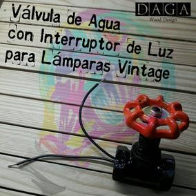 Válvula De Agua Con Interruptor De Luz Para Lámparas Vintage