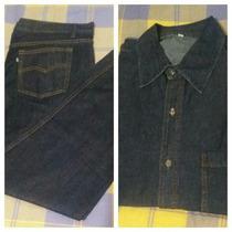 Terno Jeans Camisa Pantalón