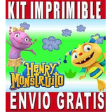 2x1 Henrry Monstruito Kit Imprimible Invitaciones + Regalo