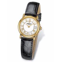Reloj Raymond Weil Chapa 18k Cristal Zafiro Para Dama