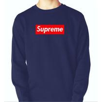Blusa Moletom Supreme Skate Logo Thug Life Swag