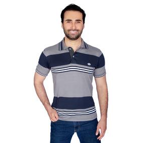 Camisa Polo Malha Listrada 100% Algodão Fio Tintopp P M G Gg