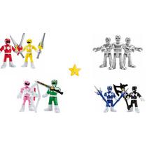 Kit Coleção Completa 4 Power Rangers Go Go Rangers Imaginext