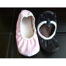 Zapatillas Toreritas Rosadas Y Negras Para Baile Ballet Danz