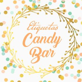 Stickers Etiquetas Plancha Personalizadas- Candy Bar