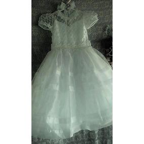 Vestido Infantil Branco Com Renda E Pérolas