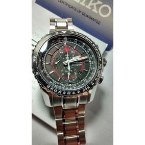 Relógio Seiko Cronoalarme Sportura Safira 7t62bt/1 *aviator*