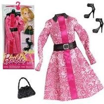 Roupa Fashion Barbie Original Mattel Vestido Fest Novo Cfx96