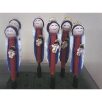 Boligrafos Decorados Virgen De Chiquinquira En Masa Flexible