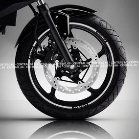 Friso Yamaha Fazer 150 Branco Refletivo Adesivo Filete Roda