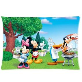 Disney Mickey Mouse Con Cremallera Fundas Funda De Cojín De