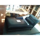 Sillon Sofa Living Colon Psicologo Negro Eco Cuero Miramar