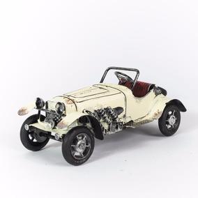 Miniatura Bugatti Antigo - Carro Lata - Decoração