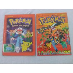 Albúm Figurinhas Colecionáveis Pokémon Antigo