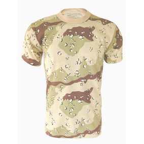 Remera Camiseta Tactica Camuflada Militar Desert Storm 4 Ton