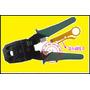 Pinza Ponchadora Conectores Rj45 Rj11 Rj9 Con Pela Cable