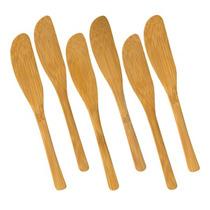 Conjunto De Espátulas Utility 6 Peças Bambu Welf
