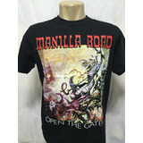 Camiseta De Rock Banda Manilla Road Open The Gates