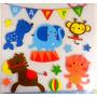 Plancha Sticker Adhesivo De Goma Eva Decorar Pared Infantil