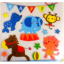 Plancha Sticker Adhesivo De Goma Eva Decorar Pared Infantil