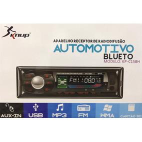 Rádio Automotivo Com Bluetooth Mp3 Player Fm Carro Som Usb