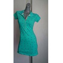 Oferta Vestido Algodon Ancla Color Menta T.ch Envio Gratis