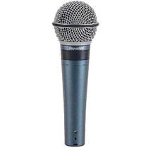 Microfone Dinâmico Superlux Pro-248   300 Ohms Para Estúdio