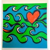 Tela Surf Art Óleo Sobre Tela 50x50