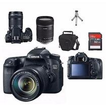 Maquina Canon 70d Com 18x135 Kit