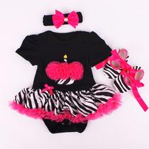 Conjunto Bebe Menina 3pcs Monster High Body Tutu+sapato+laco
