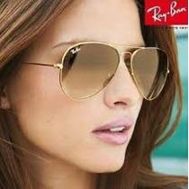 Oculos De Sol 3422q Caçador Dourado Lente Marrom Degrade 58m