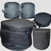Capa Bag Para Bateria Bumbo De 20, Tom De 10 E Surdo De 14