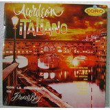Acordeon Italiano Con Francis Bay 1 Disco Lp Vinilo