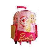 Mochila Barbie Con Carrito 16 Pulgadas Disney Original Nenas