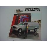 Folder Ford Furgao E100 Super Van Econoline 78 1978 V8