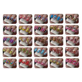 Adesivos De Unhas Artesanais Kit Com 100 Cartelas