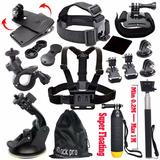 Black Pro Basic Common Outdoor Sports Kit Para Gopro Hero 5